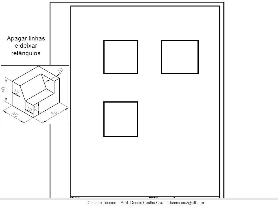 Apagar linhas e deixar retângulos