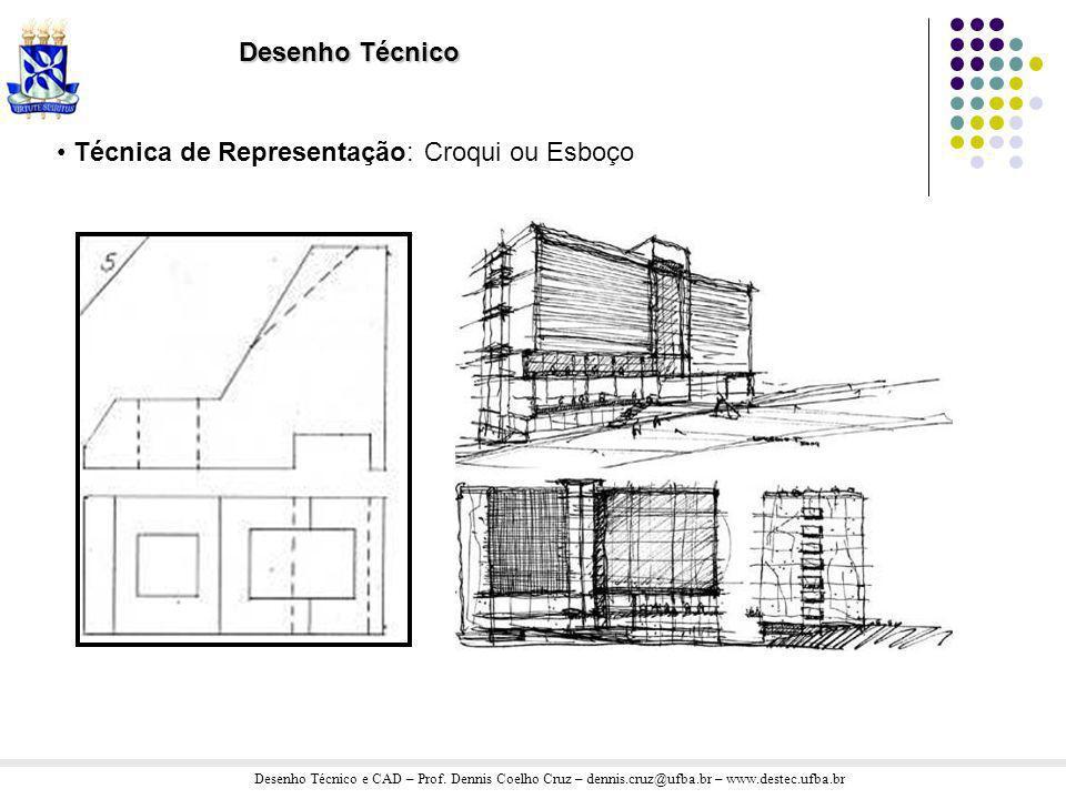 Desenho Técnico Técnica de Representação: Croqui ou Esboço