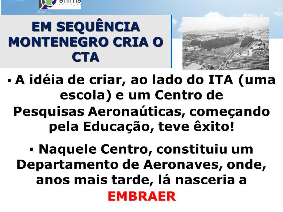 EM SEQUÊNCIA MONTENEGRO CRIA O CTA
