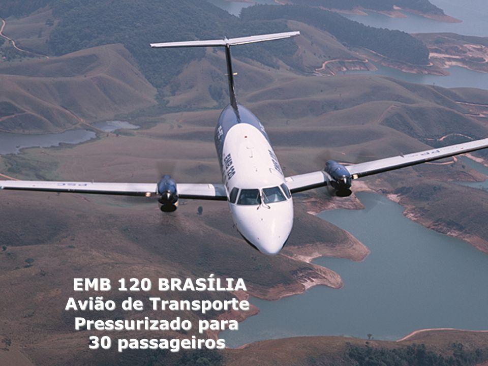 EMB 120 BRASÍLIA Avião de Transporte Pressurizado para 30 passageiros