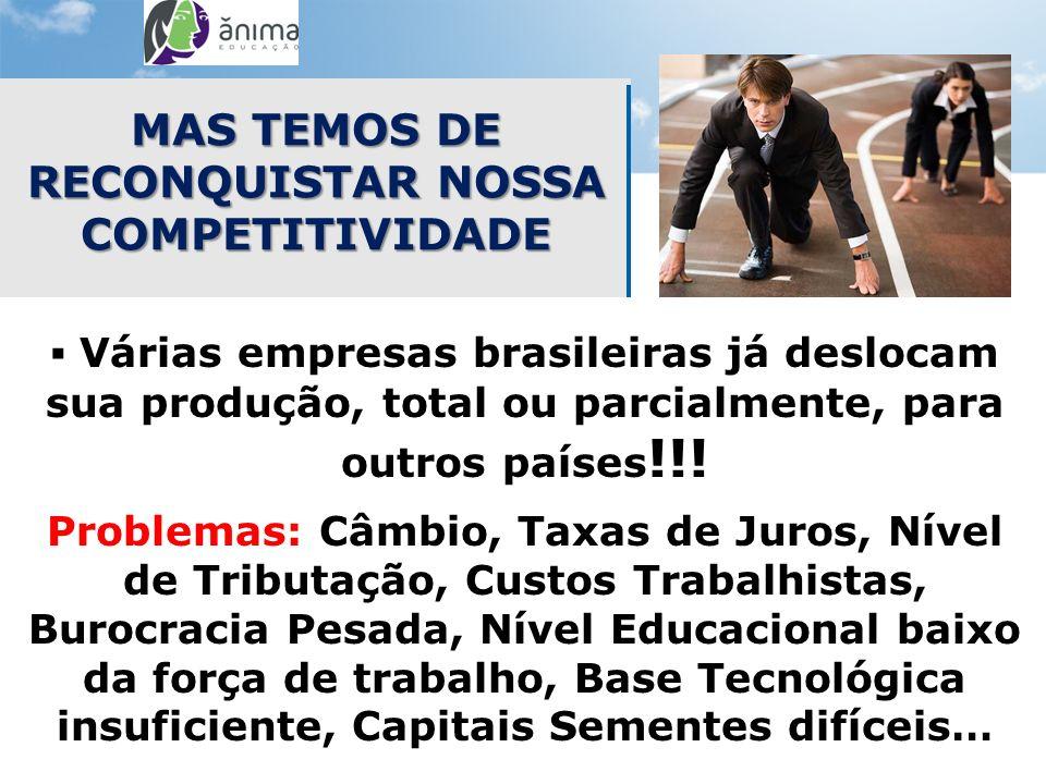 MAS TEMOS DE RECONQUISTAR NOSSA COMPETITIVIDADE