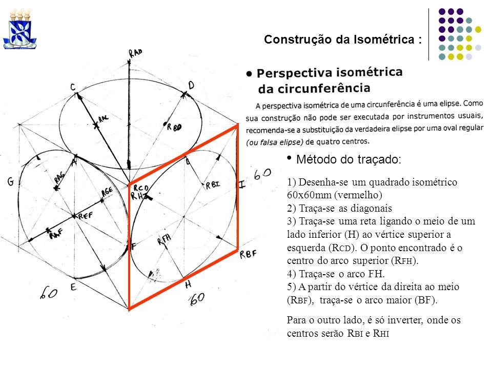 Método do traçado: Construção da Isométrica :