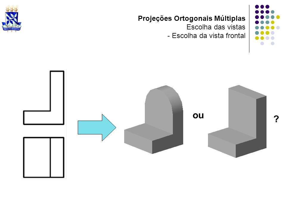 ou Projeções Ortogonais Múltiplas Escolha das vistas