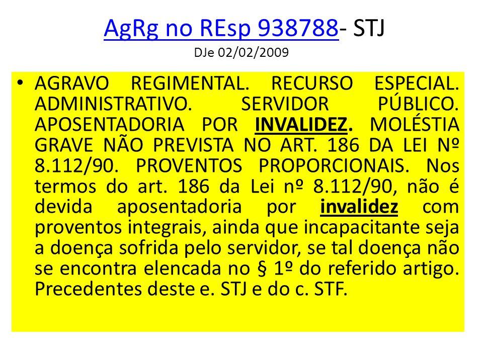 AgRg no REsp 938788- STJ DJe 02/02/2009