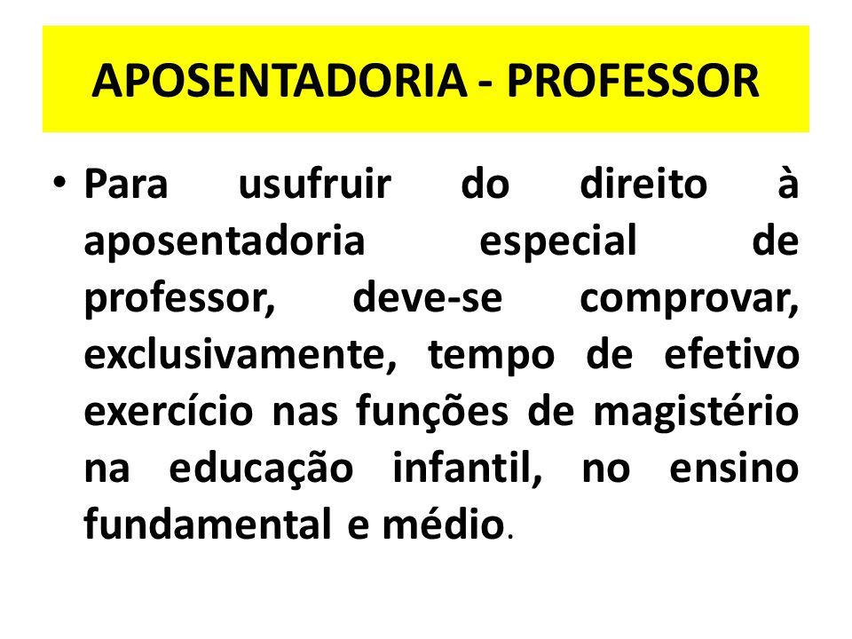 APOSENTADORIA - PROFESSOR
