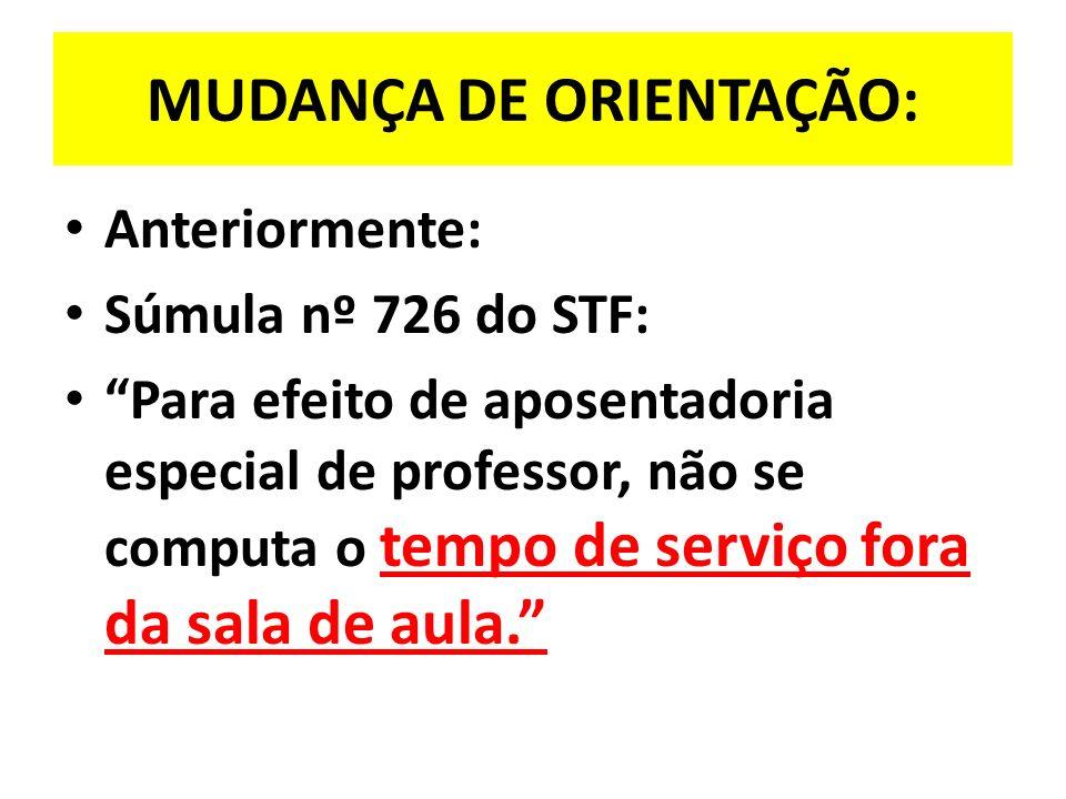 MUDANÇA DE ORIENTAÇÃO: