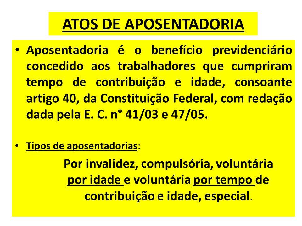 ATOS DE APOSENTADORIA