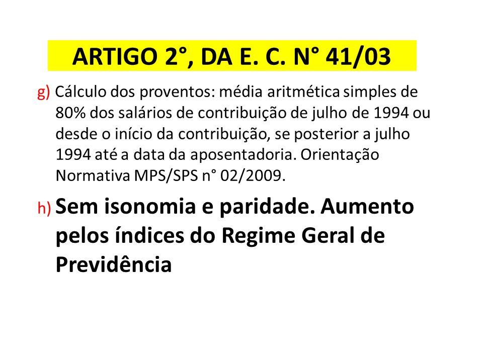 ARTIGO 2°, DA E. C. N° 41/03