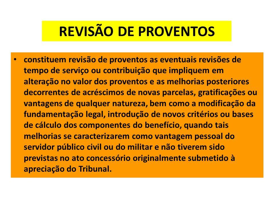 REVISÃO DE PROVENTOS