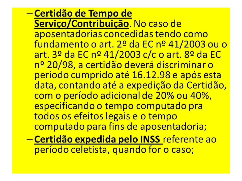 Certidão de Tempo de Serviço/Contribuição