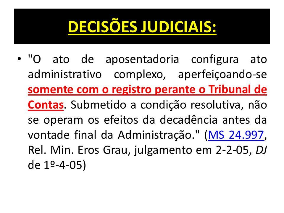 DECISÕES JUDICIAIS:
