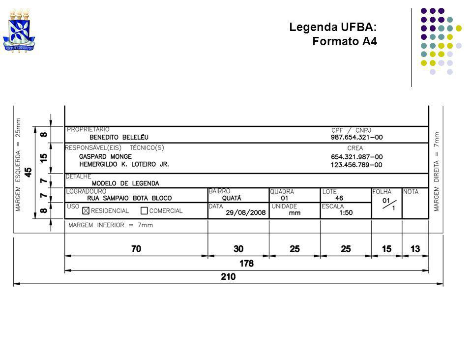 Legenda UFBA: Formato A4