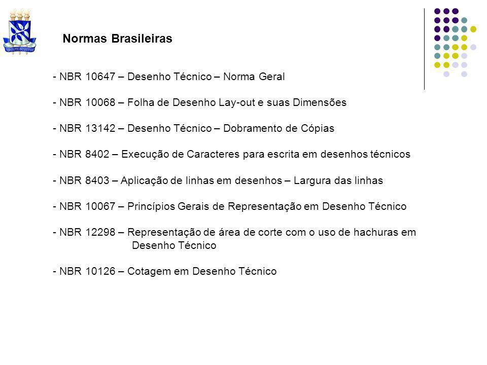 Normas Brasileiras - NBR 10647 – Desenho Técnico – Norma Geral