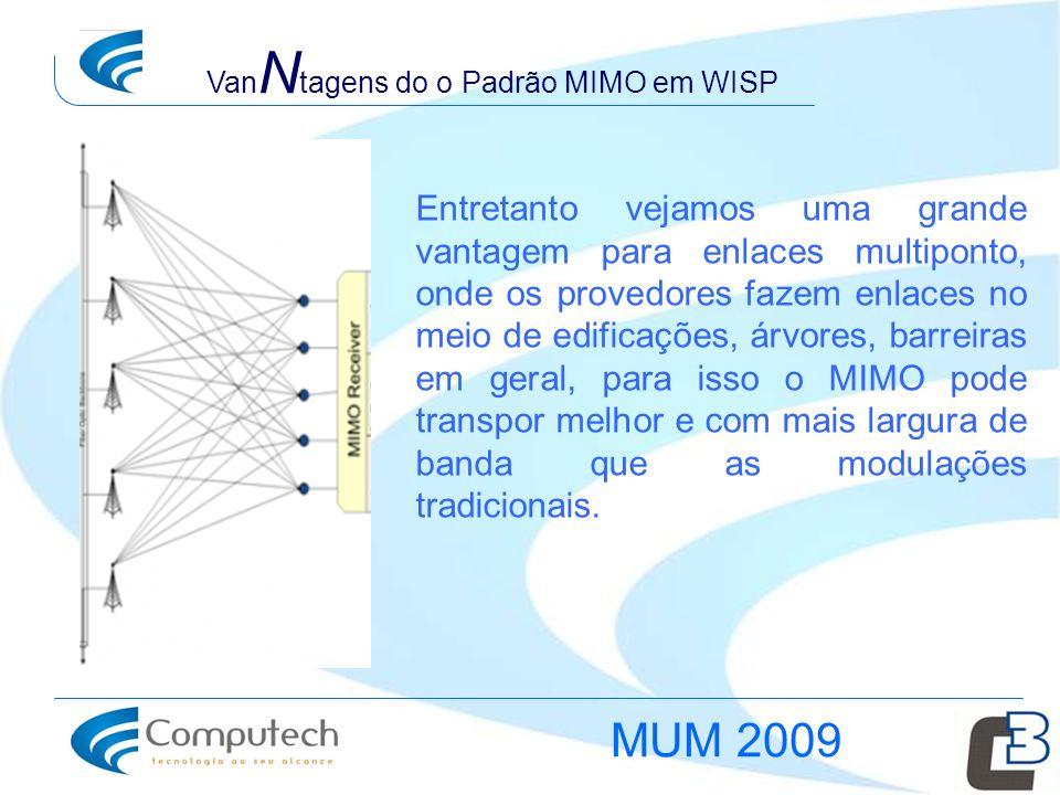 VanNtagens do o Padrão MIMO em WISP