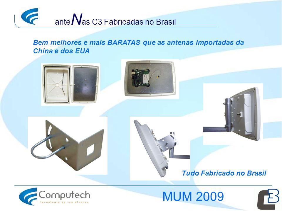 MUM 2009 anteNas C3 Fabricadas no Brasil