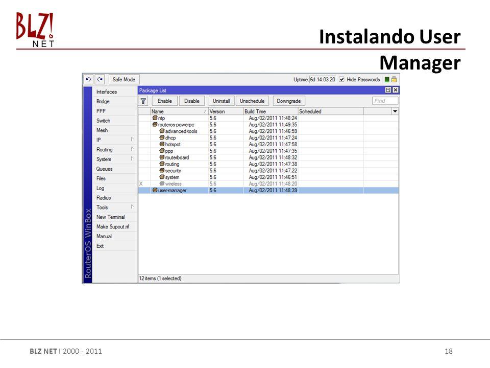Instalando User Manager