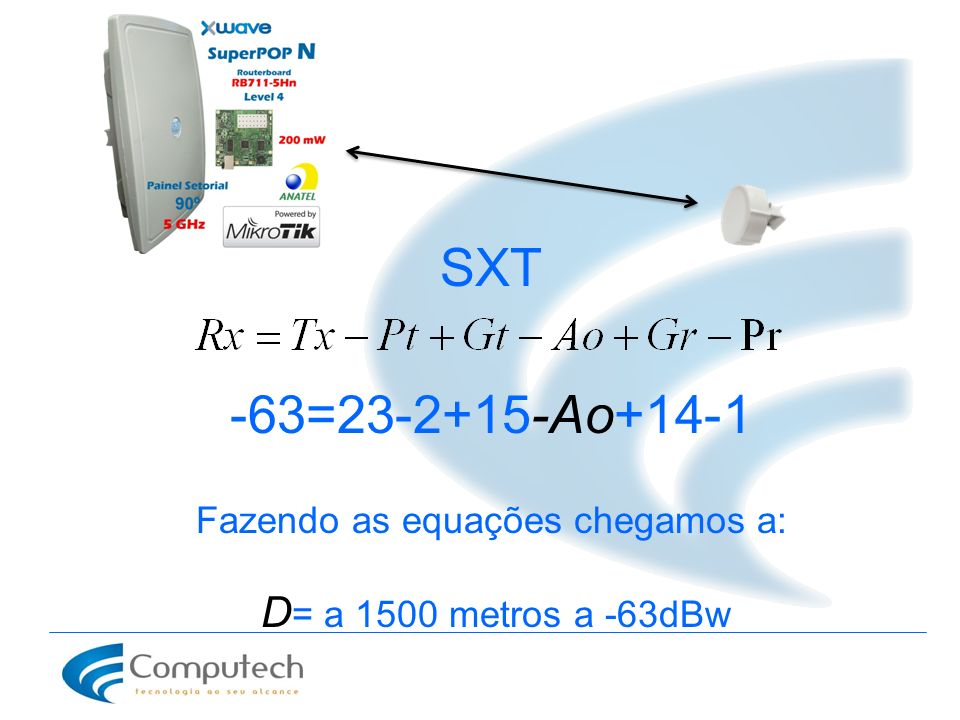 Fazendo as equações chegamos a: