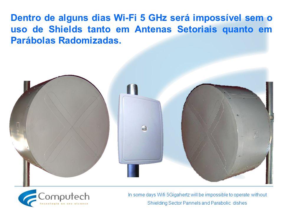Dentro de alguns dias Wi-Fi 5 GHz será impossível sem o uso de Shields tanto em Antenas Setoriais quanto em Parábolas Radomizadas.