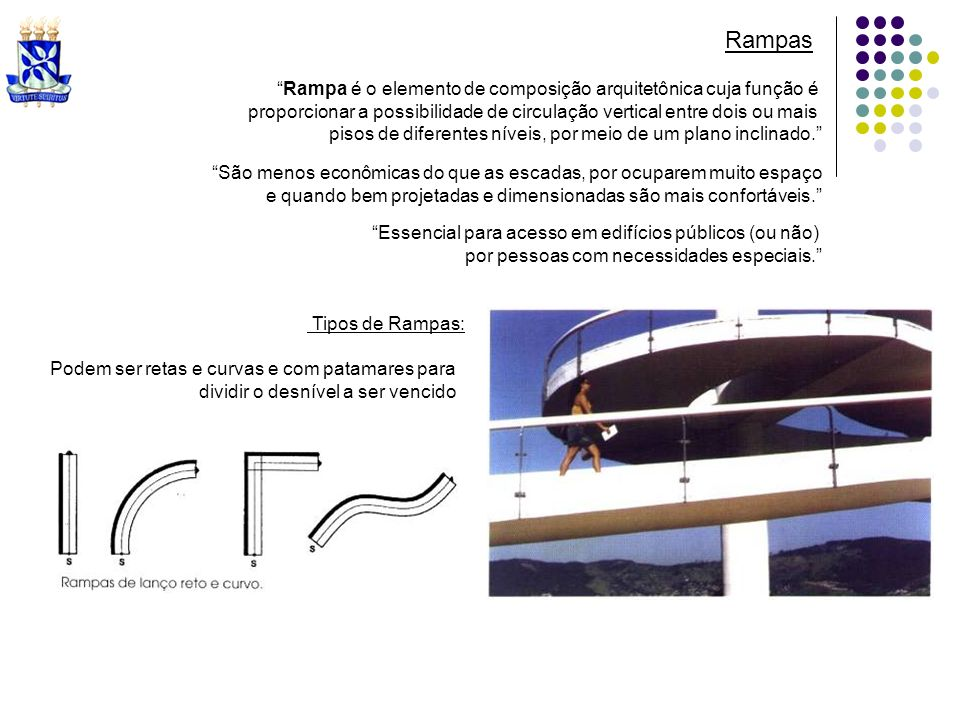 Rampas Rampa é o elemento de composição arquitetônica cuja função é