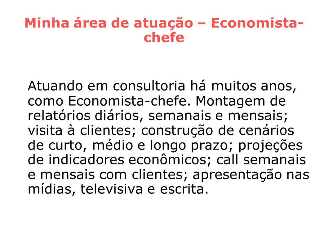 Minha área de atuação – Economista-chefe