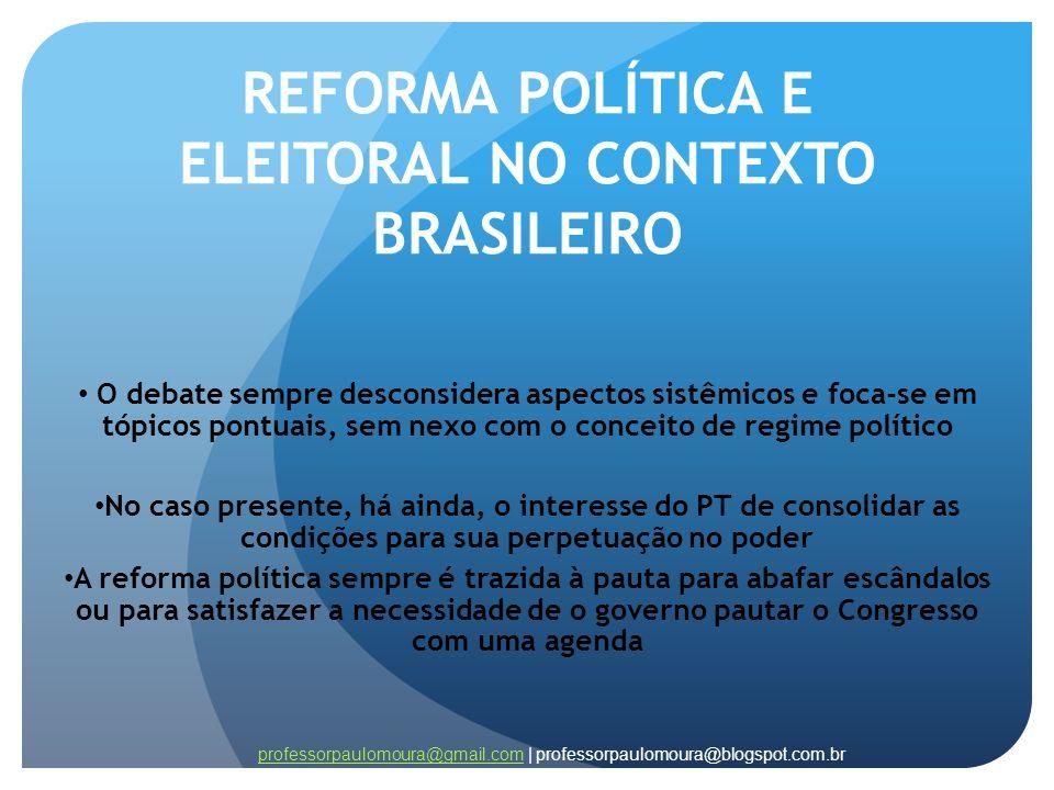 REFORMA POLÍTICA E ELEITORAL NO CONTEXTO BRASILEIRO
