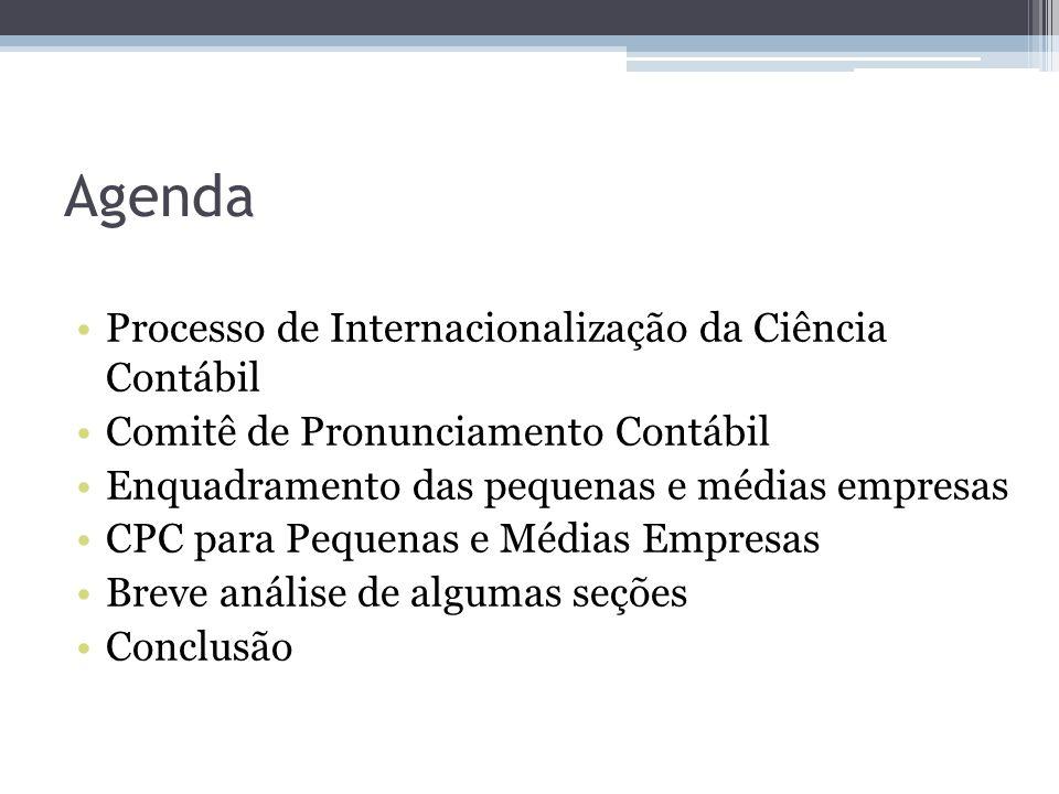 Agenda Processo de Internacionalização da Ciência Contábil