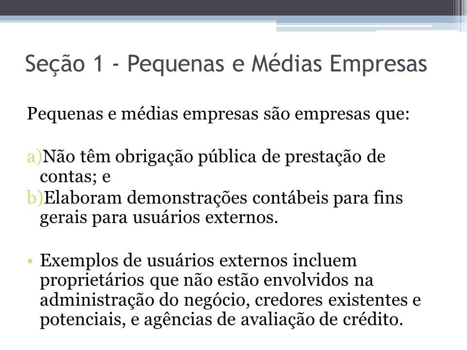 Seção 1 - Pequenas e Médias Empresas