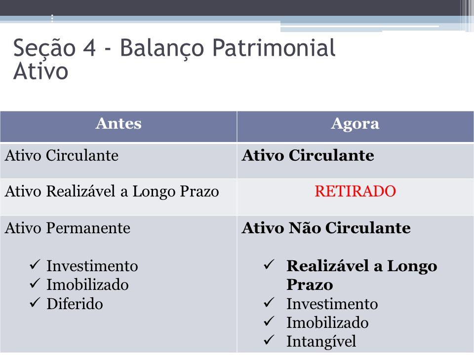 Seção 4 - Balanço Patrimonial Ativo