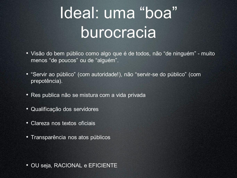Ideal: uma boa burocracia