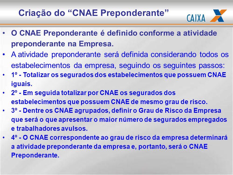 Criação do CNAE Preponderante