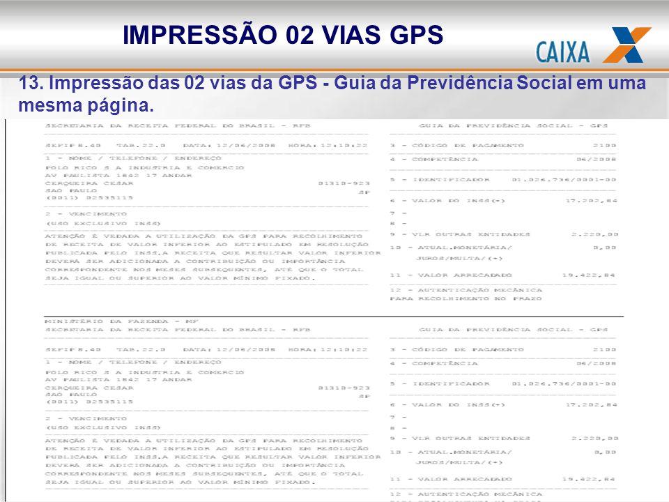 IMPRESSÃO 02 VIAS GPS13.