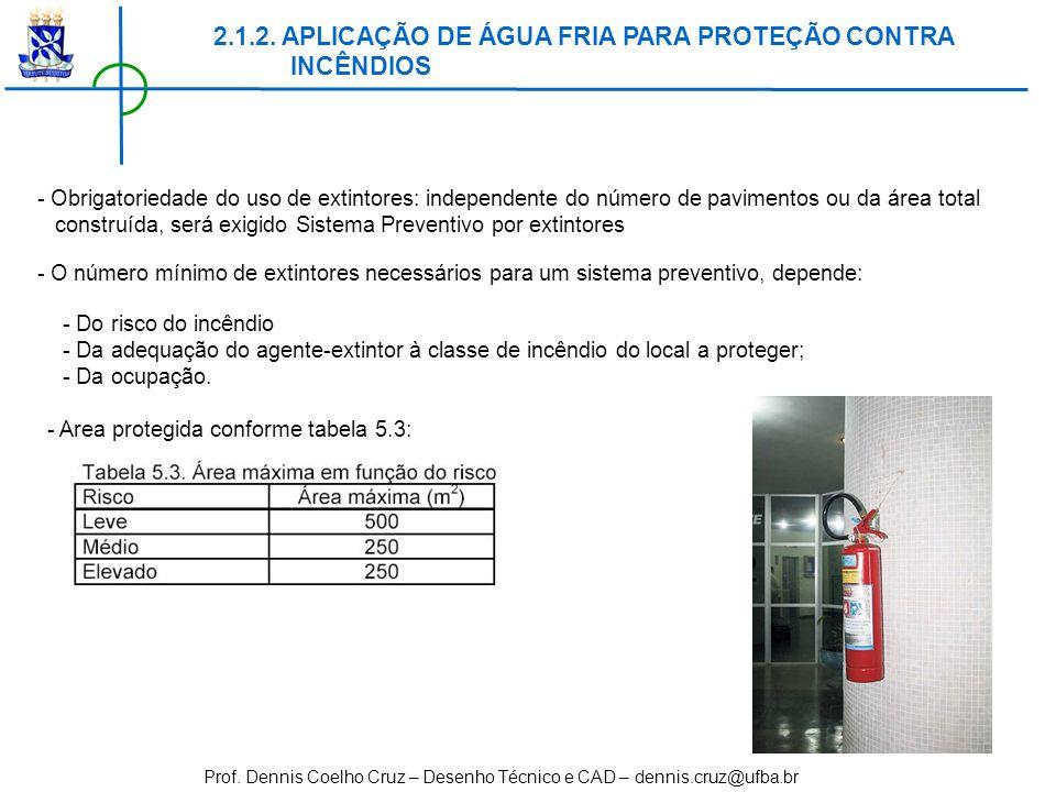 2.1.2. APLICAÇÃO DE ÁGUA FRIA PARA PROTEÇÃO CONTRA INCÊNDIOS