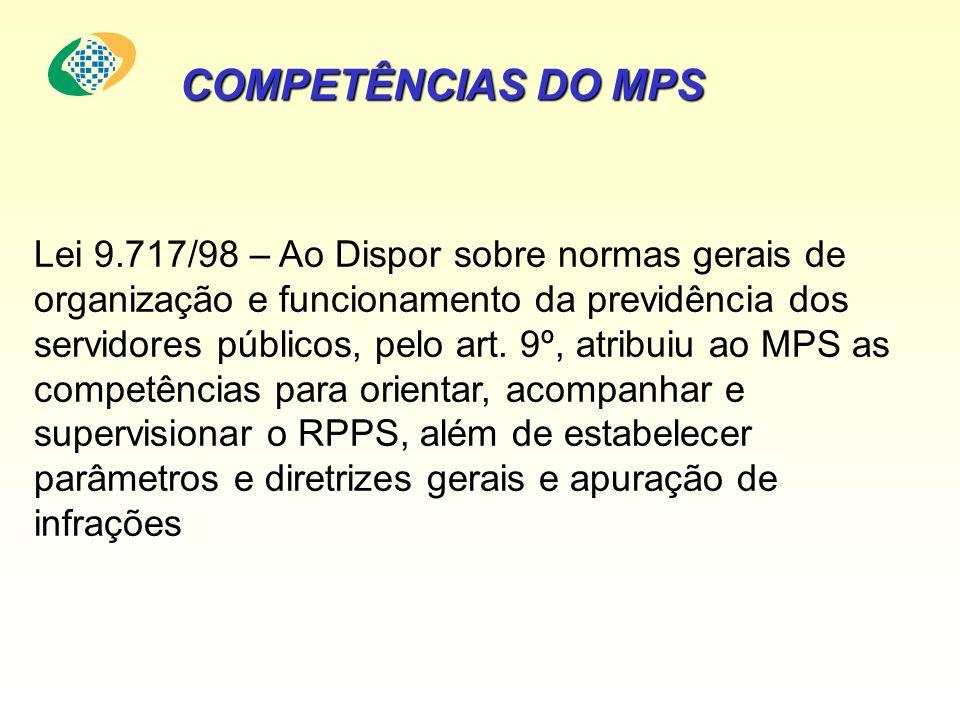 COMPETÊNCIAS DO MPS