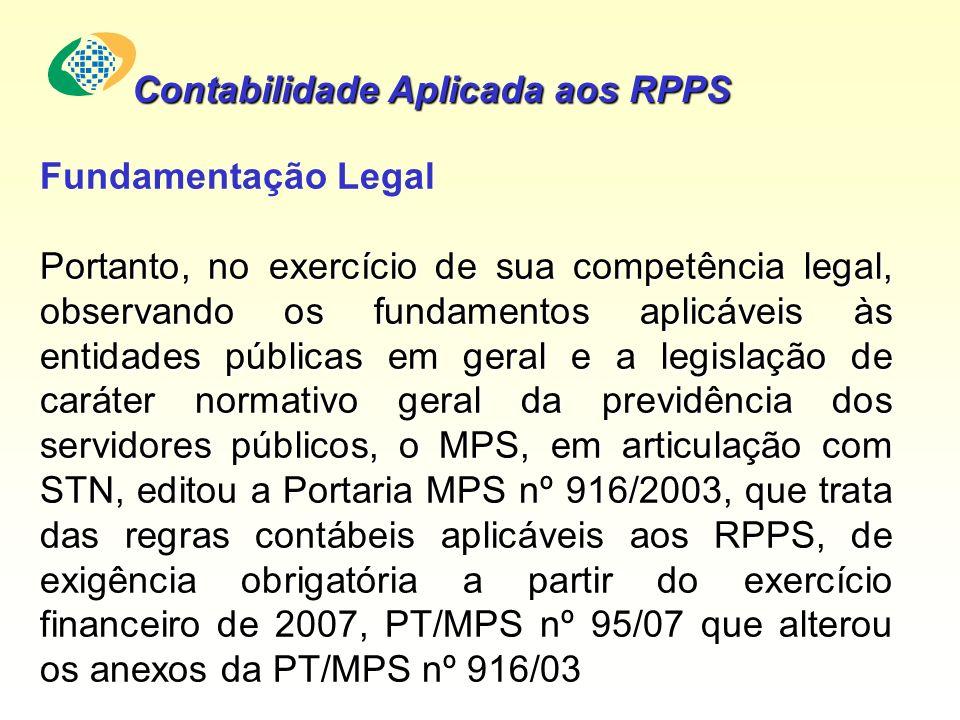 Contabilidade Aplicada aos RPPS