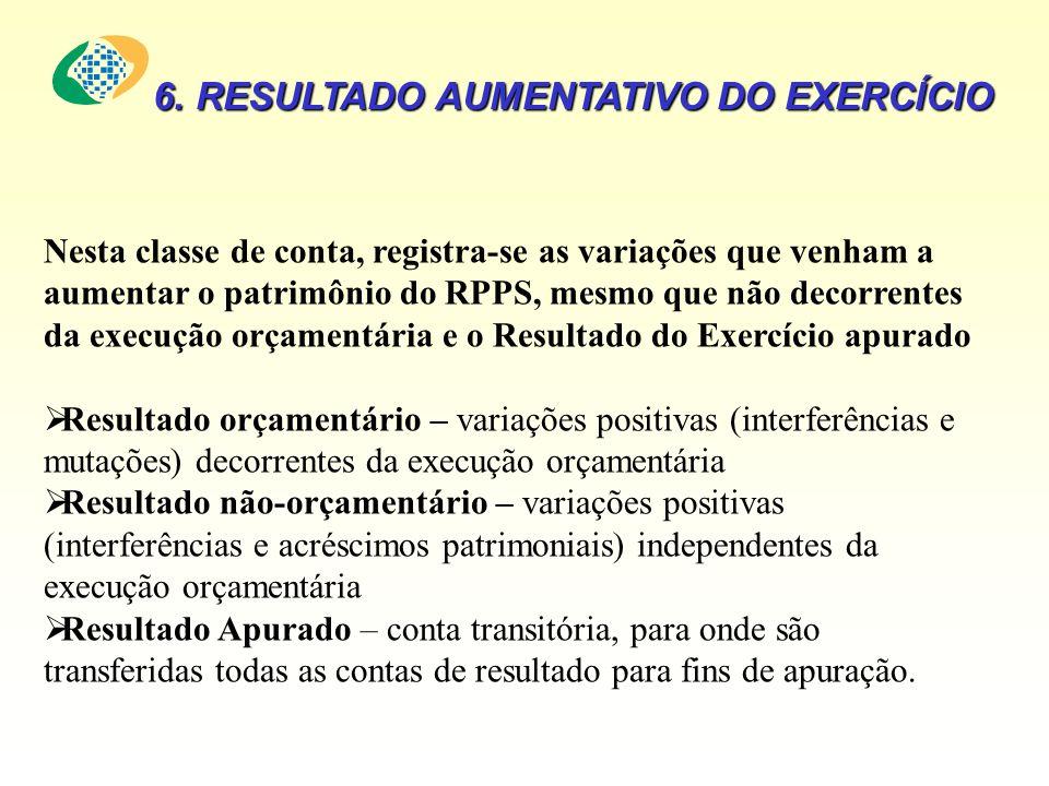 6. RESULTADO AUMENTATIVO DO EXERCÍCIO