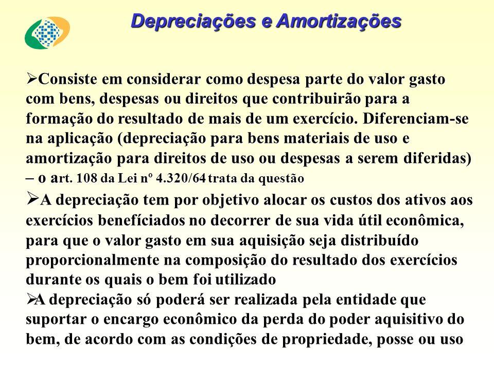 Depreciações e Amortizações