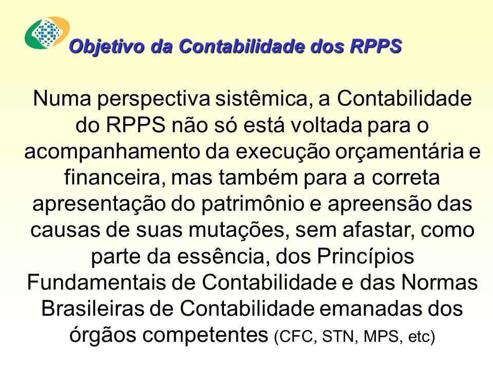 Objetivo da Contabilidade dos RPPS