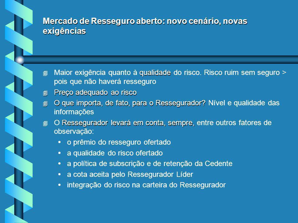 Mercado de Resseguro aberto: novo cenário, novas exigências