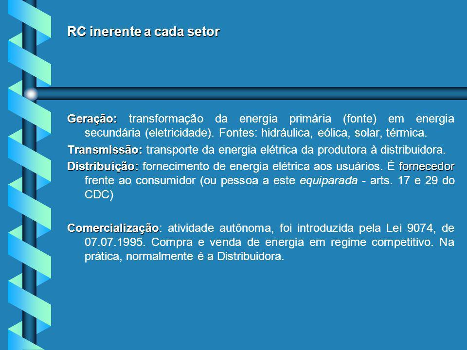 RC inerente a cada setor