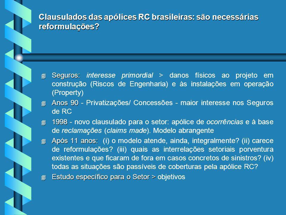 Clausulados das apólices RC brasileiras: são necessárias reformulações