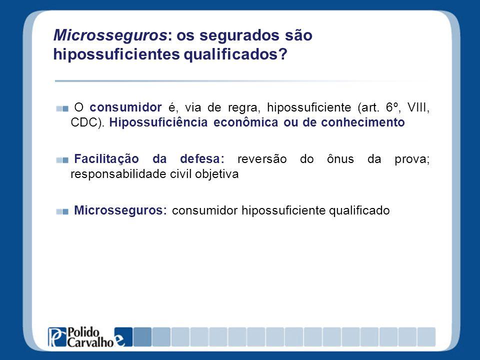 Microsseguros: os segurados são hipossuficientes qualificados