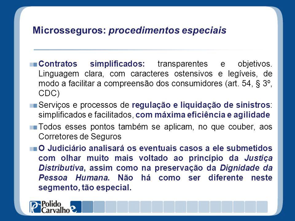 Microsseguros: procedimentos especiais