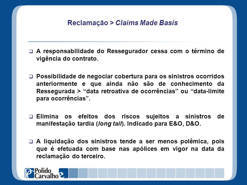Reclamação > Claims Made Basis