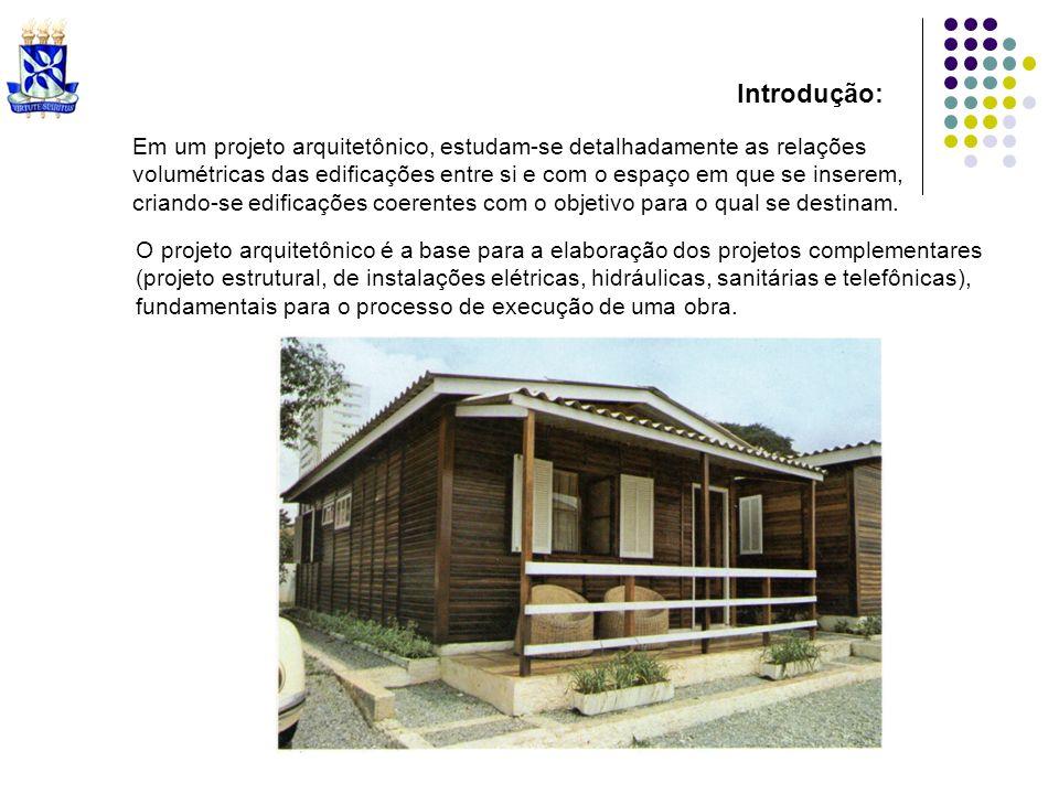 Introdução: Em um projeto arquitetônico, estudam-se detalhadamente as relações.