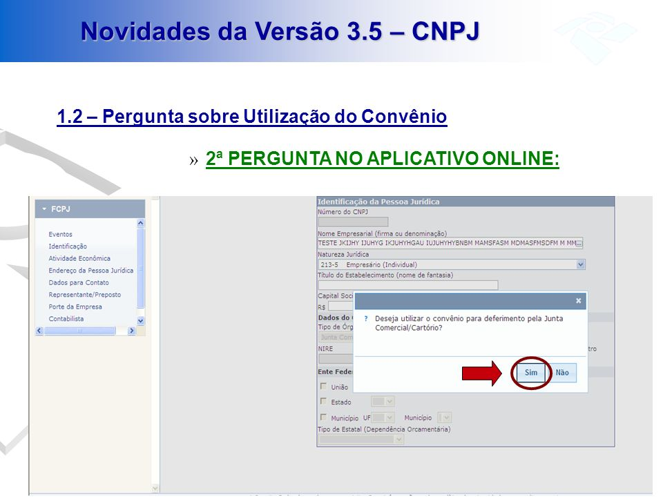 Novidades da Versão 3.5 – CNPJ