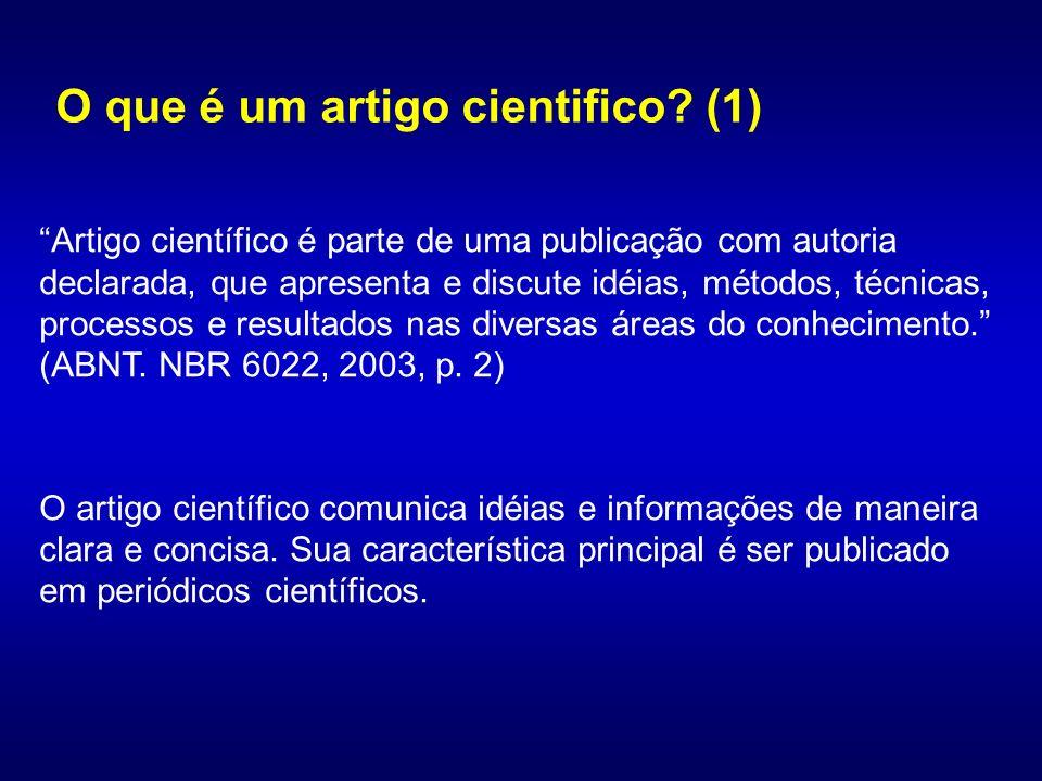 O que é um artigo cientifico (1)