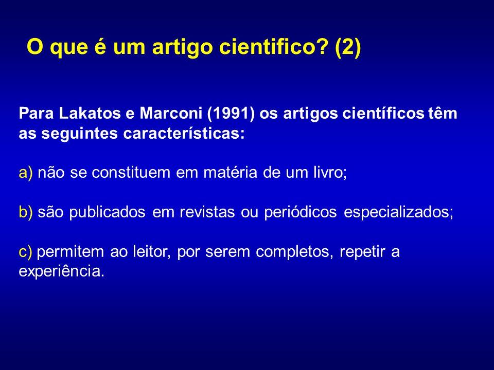O que é um artigo cientifico (2)