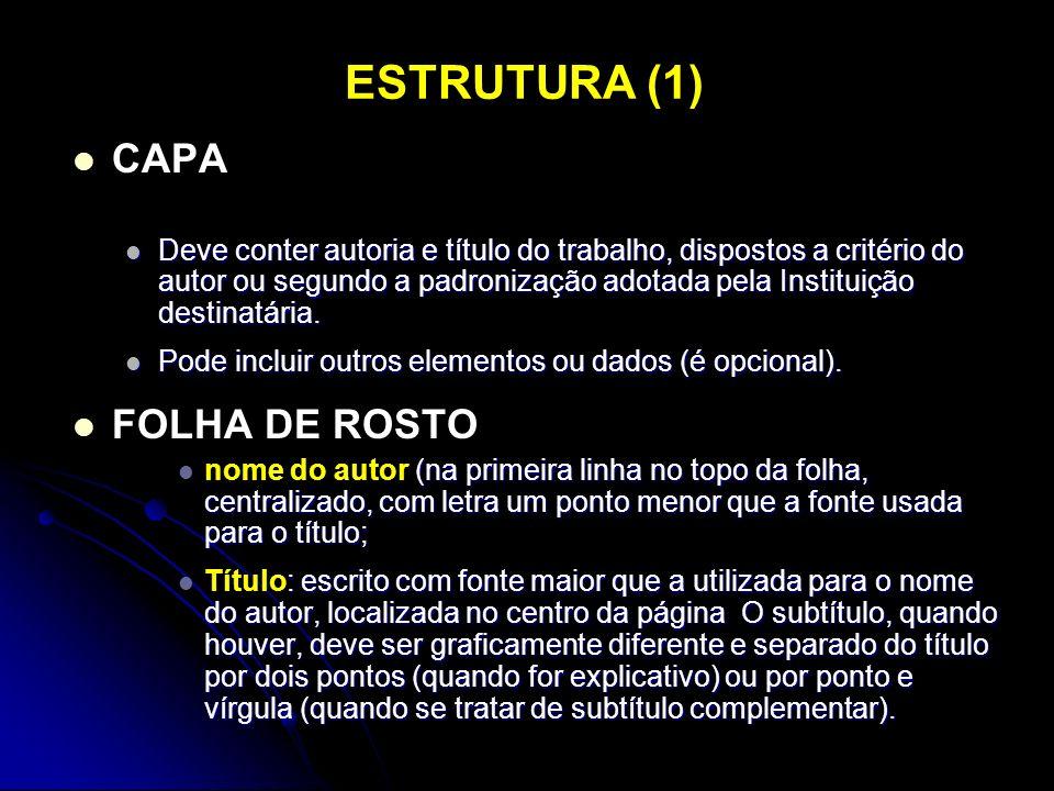 ESTRUTURA (1) CAPA FOLHA DE ROSTO
