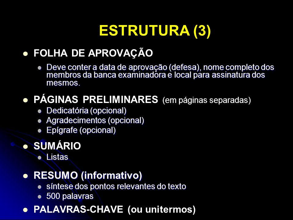 ESTRUTURA (3) FOLHA DE APROVAÇÃO