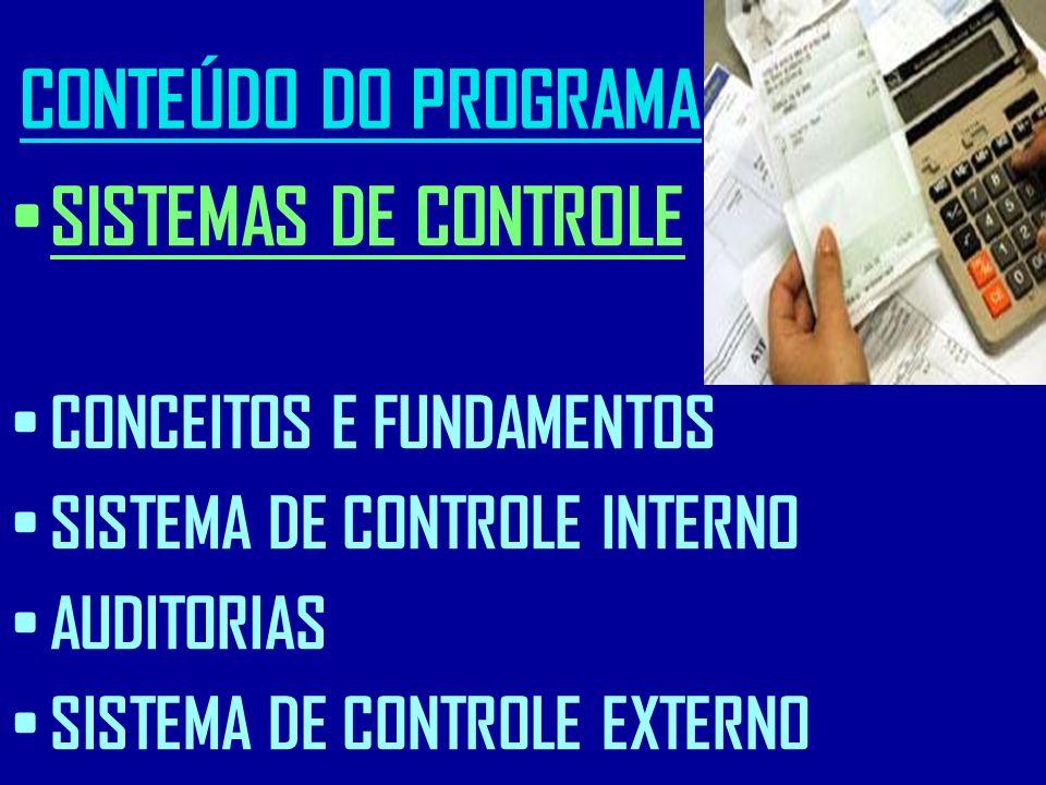 CONTEÚDO DO PROGRAMA SISTEMAS DE CONTROLE CONCEITOS E FUNDAMENTOS